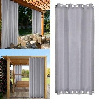 Cortina impermeable UV para exteriores, para porche, pérgola, balcón, Patio