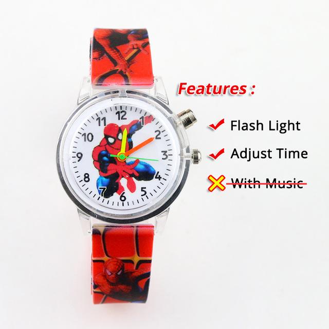 Relojes para niños con luz flash de colores.Relojes para niños y niñas, reloj de regalo para fiesta