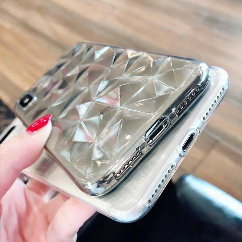 N1986N الهاتف حقيبة لهاتف أي فون 11 برو ماكس X XR XS ماكس 6 6s 7 8 Plus الفاخرة الماس الملمس شفافة رقيقة جدا لينة حافظة تي بي يو