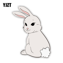 YJZT 15.5CM*11.5CM Automotive Products Cute Animal Rabbit Ca