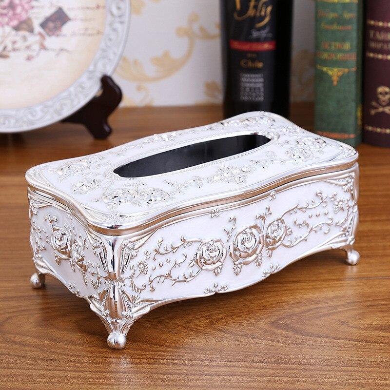 Кухонные держатели для салфеток, классическая коробка для салфеток, контейнер из акрила для ванной, кухонный инструмент, аксессуары для украшения дома - Цвет: white
