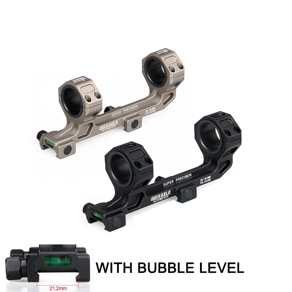 PPT Tactical-Gun Rifle Scope Mount 25.4mm / 30mm Rings AR15 M4 M16 with Bubble Level For 20mm Picatinny Rail(China)