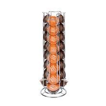24 чашки вращающаяся стойка для кофейных капсул железо хром покрытие дисплей капсулы стойки полки для хранения для dolcegusto капсулы