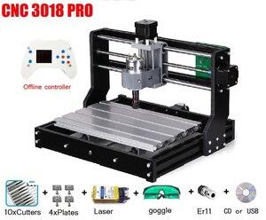 CNC 3018 PRO мини лазерный гравировальный станок для дерева, ПВХ, металла, ЧПУ станок GRBL ER11 Хобби DIY гравировальный станок CNC3018 гравер