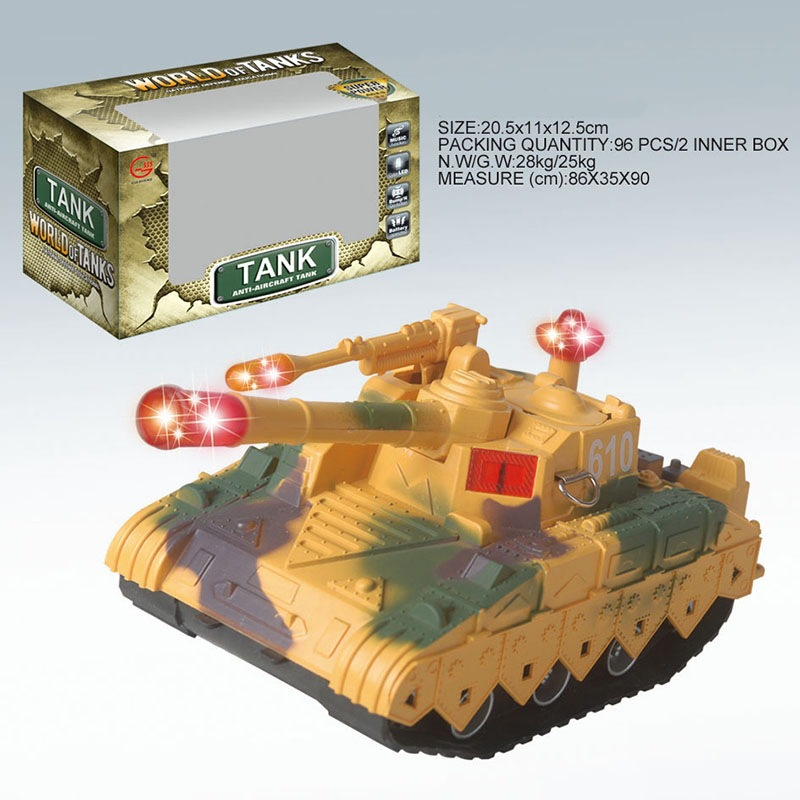 Model Educational Children Military Model Toy Shining Music Electric Tank Toy Car Stall Hot Selling