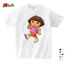 3T-9T Girl Summer Clothes T Shirts Casual Funny Top T Shirt Boys Tops 2019 New T Shirts Kids Toddler Dora Explorer Tee Shirt