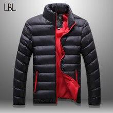 LBL Winter Autumn Jacket Men Windbreaker Solid Mens CoatStreetwear Windproof Zip