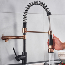 Crane-Tap Kitchen-Sink-Faucet Deck-Mounted Spring-Pull-Down Rose Cold-Water-Mixer Rozin
