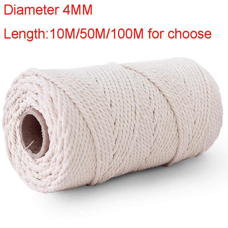 3Black SUMMERWY Soft Rope Cord 2Pcs 10 M//33 Feet 8 MM All Purpose Cotton Rope Craft Rope Thick Cotton Cord