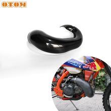 OTOM For KTM Motorcycle Exhaust Pipe Heat Shield Cover Protection For HUSQVARNA TC TE TX SX XC XCW 250 300 Exhaust Muffler Guard tanie tanio CN (pochodzenie) 15cm 45cm Carbon Fiber Harley-davidson Anti-Scald 0 54kg 35cm Motorcycle Exhaust Guard For SX250 XC250 XCW250 300 TPI
