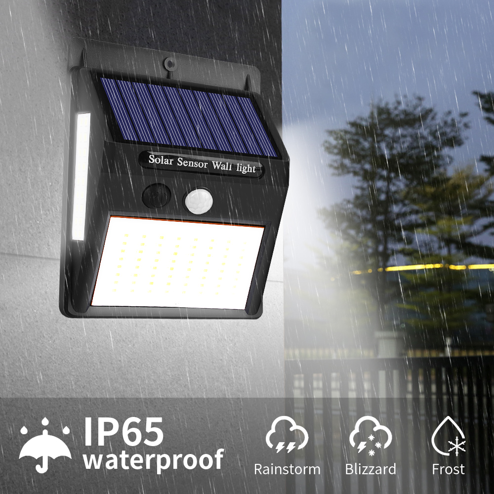 1/2/4pcs Wall Light 100 LED Outdoor Solar Lamp PIR Motion Sensor Waterproof Solar Powered Sunlight For Garden Decoration