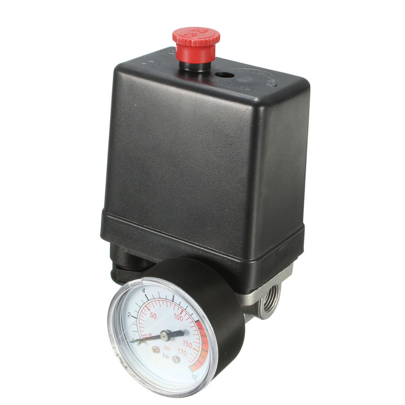 Image 3 - 7.25 125 PSI Small Air Compressor Pressure Switch Control 15A 240V/AC Adjustable Air Regulator Valve Compressor Four Holes-in Switches from Lights & Lighting