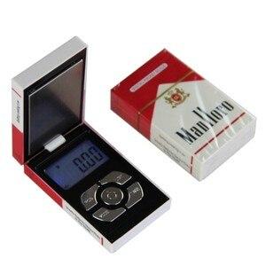 Image 1 - Nouveau Pop Mini poche électronique numérique Balance de bijoux pour boîte à cigarettes en or peser Balance 0.01 200g poids numérique mini Balance