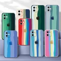 Funda de silicona líquida para IPhone, carcasa suave de lujo para IPhone 12, 11 Pro Max, X, XR, XS Max, 7, 6, 6S, 8 Plus, colorida