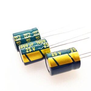 Image 3 - 20pcs/lot high frequency low impedance 25v 1000uf 8*16MM aluminum electrolytic capacitor 1000uf 25v 25V1000uf 20%