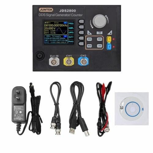 JUNTEK JDS2800 15MHz DDS Function Arbitrary Waveform Signal Generator + Software