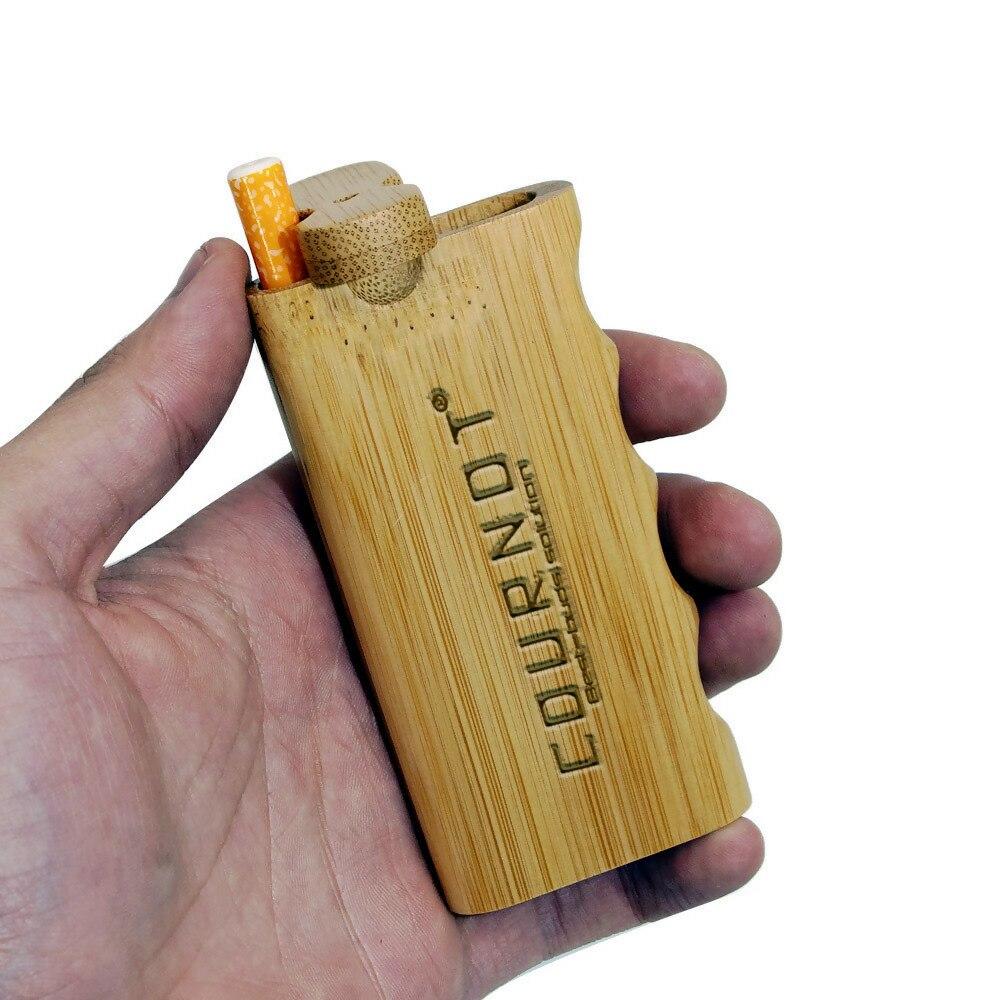 HORNET портативная бамбуковая Dugout с керамической трубкой 48*103 мм Мини бамбуковая коробка для Dugout дымовая ручная трубка чехол для хранения