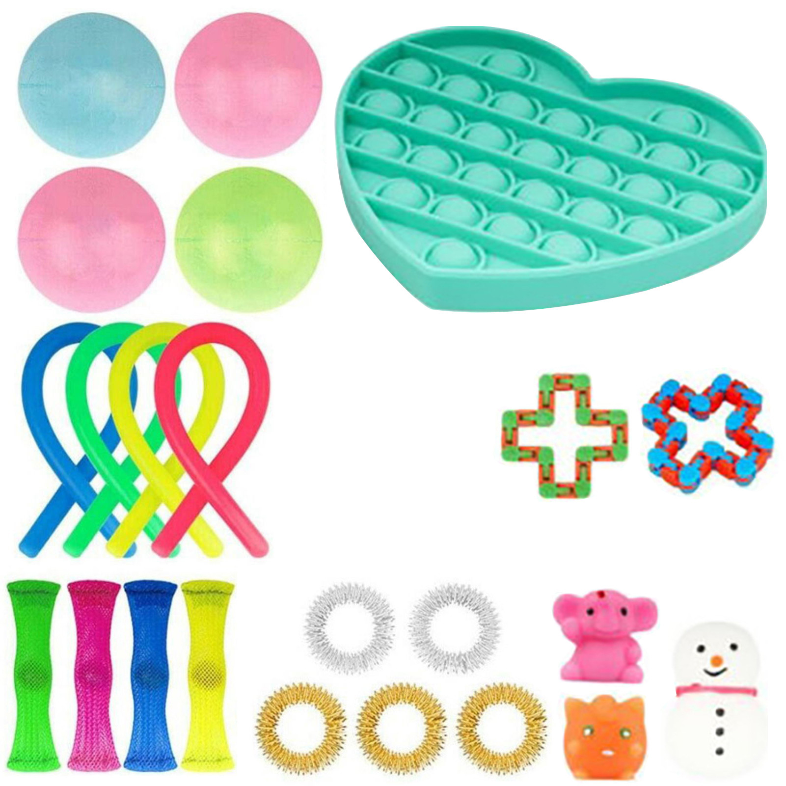 24 Pack Fidget Toys Set Anti Stress Autism Anxiety Relief Stress Squeeze Toys Fidget img2