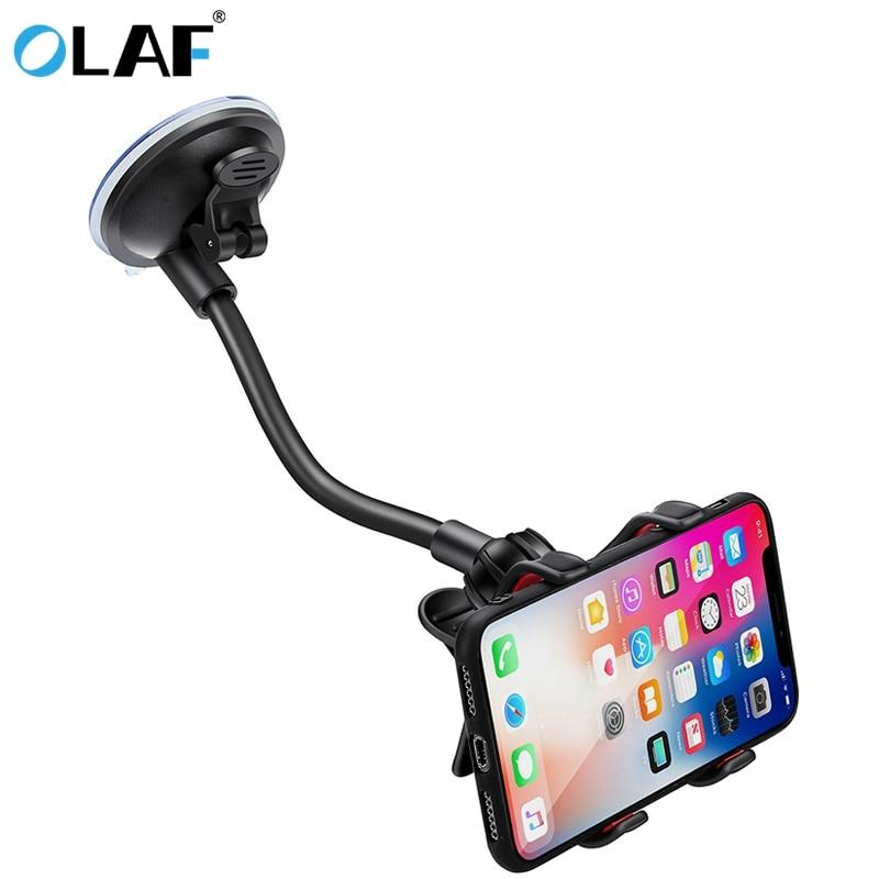 Phone Car Holder Flexible 360 Degree Rotation Car Mount Tripod Mobile Phone Holder For Smartphone Car Phone Holder Support GPS