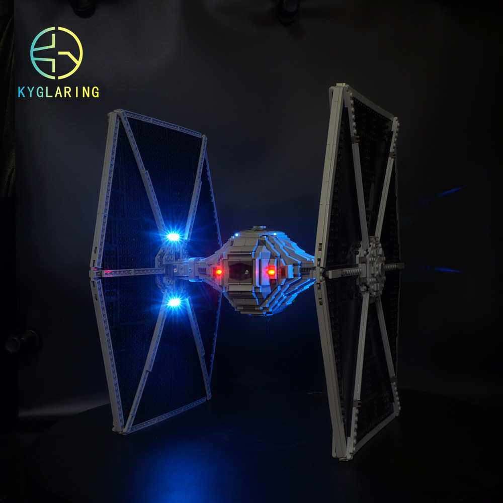 Kyglaring LED Light For Lego 75095 UCS TIE Fighter Building Blocks Bricks Toys (only Light Included)