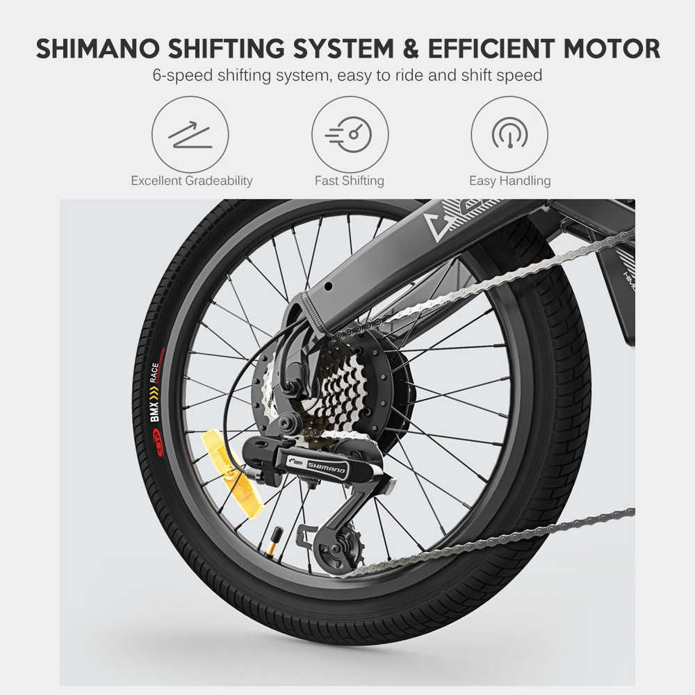 HIMO C20 20 بوصة للطي 80 كجم المدى الطاقة مساعدة Eletric دراجة الدراجة E-الدراجة 10AH