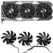 Graphics Card Cooling Fan 4Pin Video Card Cooler Fan for ZOTAC GTX1080Ti AMP! EXTREME 11G Repair Accessories Parts