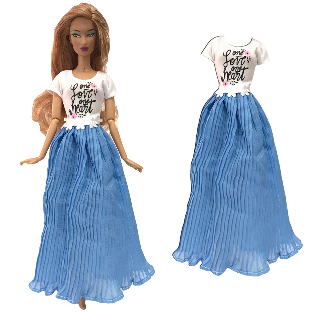 NK One Set Doll Dress Top Fashion Outfits Skirt Handmade Clothes For Barbie Doll Accessories Gift Baby Toys 275A 9X