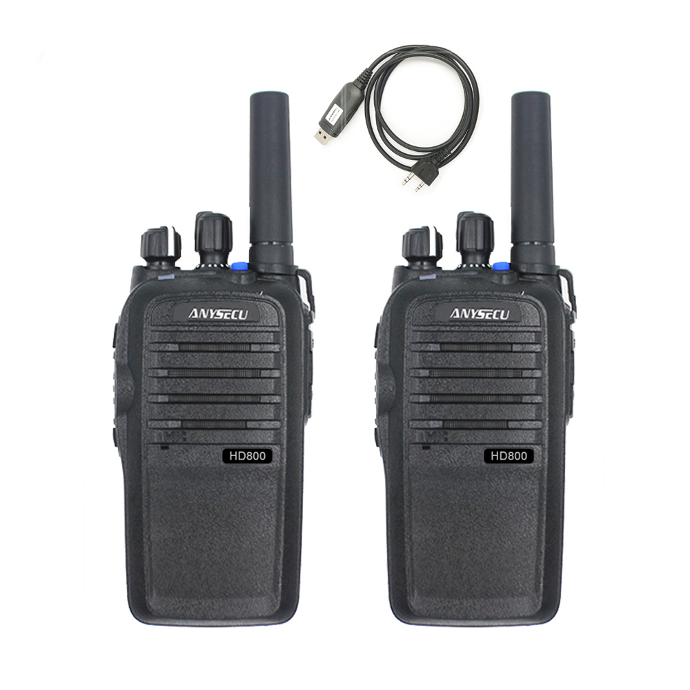 Anysecu Walkie-Talkie Battery Gps-Support Poc Radio 2pcs with Sim-Card Linux-System Real