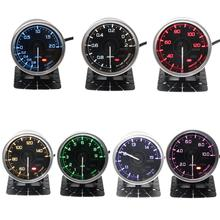 Def* A1 2.5inch 60mm 7 Colors universial Gauges Water Temp Oil Temp Turbo Boost Oil Pressure EXT Temp Air Fuel Ratio meter greddi gauge water temp 7 light colors lcd display oil pressure turbo rpm racing meter 62mm 2 5 inch with sensor car accessiores