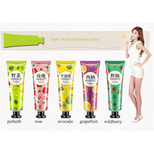 5PCS/lot Plant Fruit Hand Cream Set Moisturizing Nourishing Anti Aging Whitening Skin Care Hand Lotion Rose Avocado Grapefriut