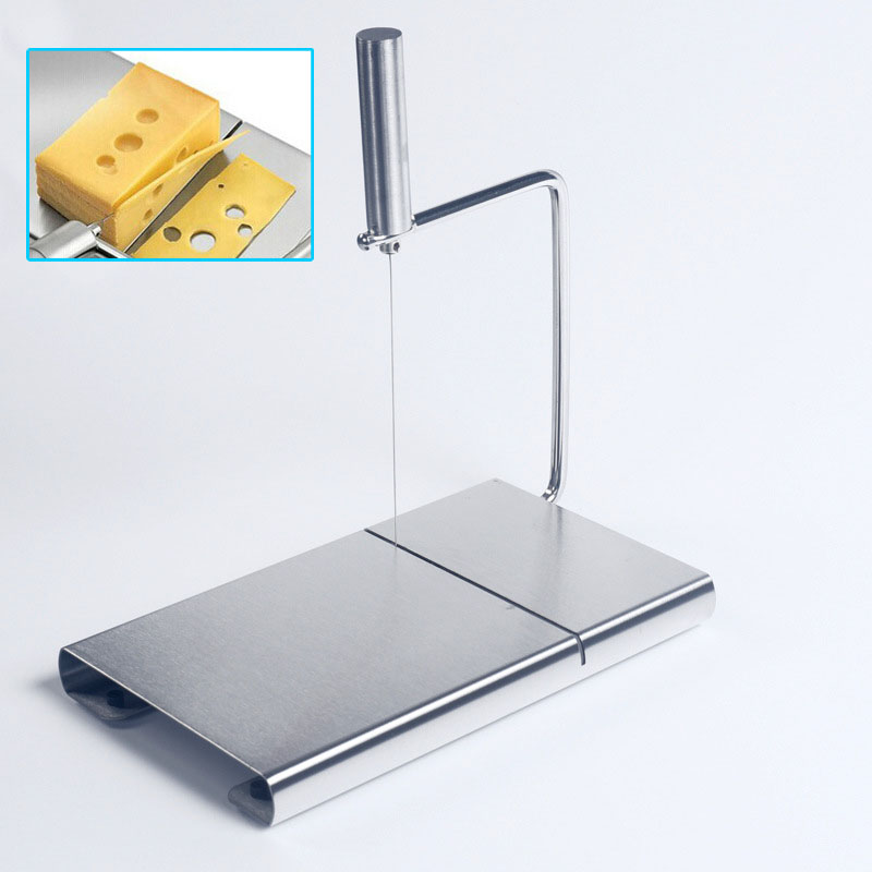 1Pcs <font><b>Cheese</b></font> Butter <font><b>Slicer</b></font> Cutter Board Cutting Kitchen Hand Tool <font><b>Stainless</b></font> <font><b>Steel</b></font> <font><b>Wire</b></font> <font><b>Cheese</b></font> <font><b>Slicer</b></font> Cutting <font><b>Cheese</b></font> House image