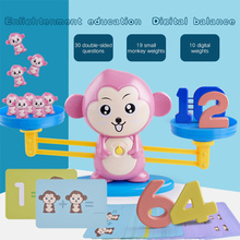 Math Match Game Monkey Digital Balance Scale Toy Children Enlightenment Digital Addition and Subtraction Math Scales Toys monkey number balance math toys match balancing scale game board game educational toy for child to learn add and subtract