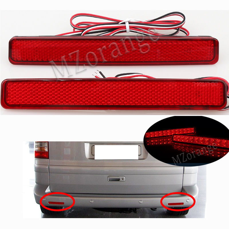 LEVOU Choques Refletor Traseiro Para Volkswagen VW T5 Transporter/Caravelle/Multivan 2003-2011 Cauda Do Carro-styling luz de freio Parada Lâmpada