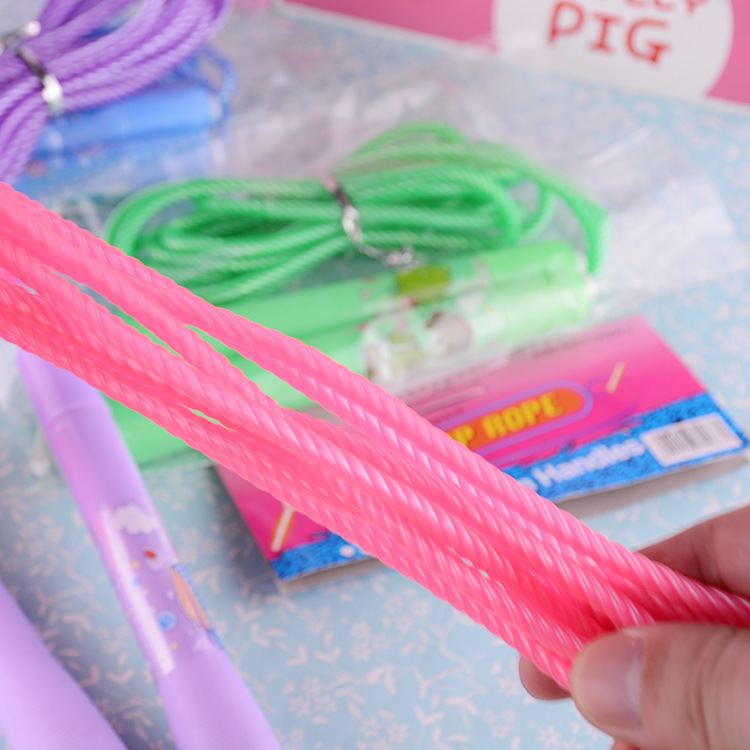 Children Jump Rope Adjustable Young STUDENT'S Game Sports Fitness Single Person Toy Gift Practical Cartoon