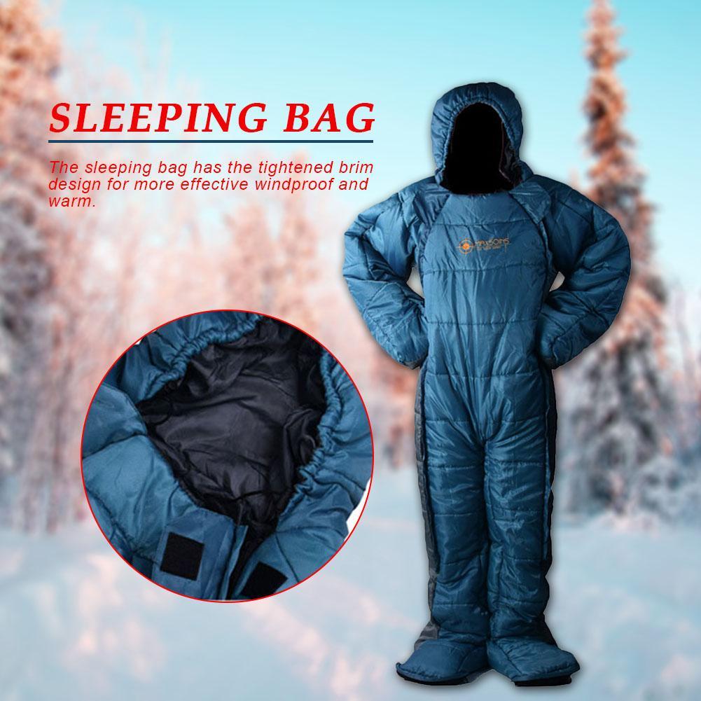 Спальный мешок в форме человека, зимний теплый удобный спальный мешок на молнии, спальный мешок для палаток, походов, походов