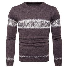 2020 New Winter Man Full Sleeve Sweater Fashion Knitted O-Neck Collar Male Pullover Casual Slim Fit Sweater For Men Plus Size(China)