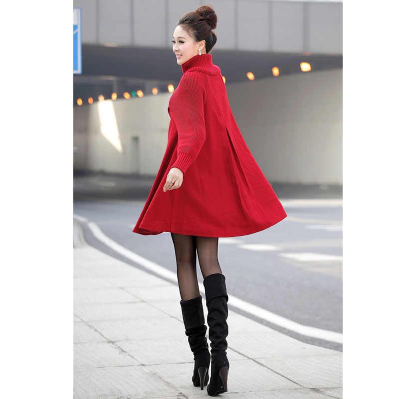 2019 automne femmes manteau nouvelle mode Long manteau en laine Type femme hiver Outw lâche manteau en laine manteau en laine coupe-vent manteau