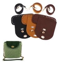 Recambio de correa inferior para bolso de ganchillo, conjunto de 4 unidades, bandolera de cuero Artificial, accesorios de costura