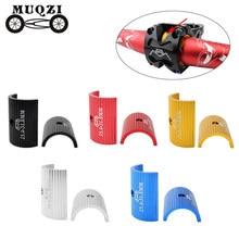 Muqzi 1 par de conversão guiador da bicicleta calço 25.4mm a 31.8mm 31.8mm a 35mm abertura ajustar adaptador mtb estrada bicicleta redutor