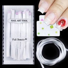Fiber Glass Nail Extension Building Zijde Glasvezel Nail Tips Extensions Vorm UV Gel Manicure DIY Fiber Formulieren Nails Gereedschap BE1578(China)