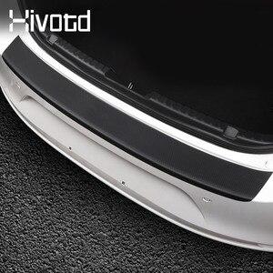 Image 4 - Hivotd para mazda 3 axela bp 2020 2021 acessórios do carro tronco traseiro pára choques protetor adesivos placa de fibra carbono decoração