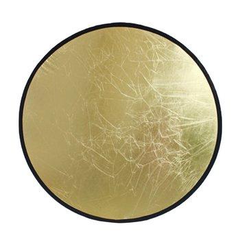 60cm odbłyśnik 2 w 1 przenośny składany składany dysk reflektor do zdjęć złoty i srebrny na fotografia portretowa tanie i dobre opinie CN (pochodzenie) ROUND 135g