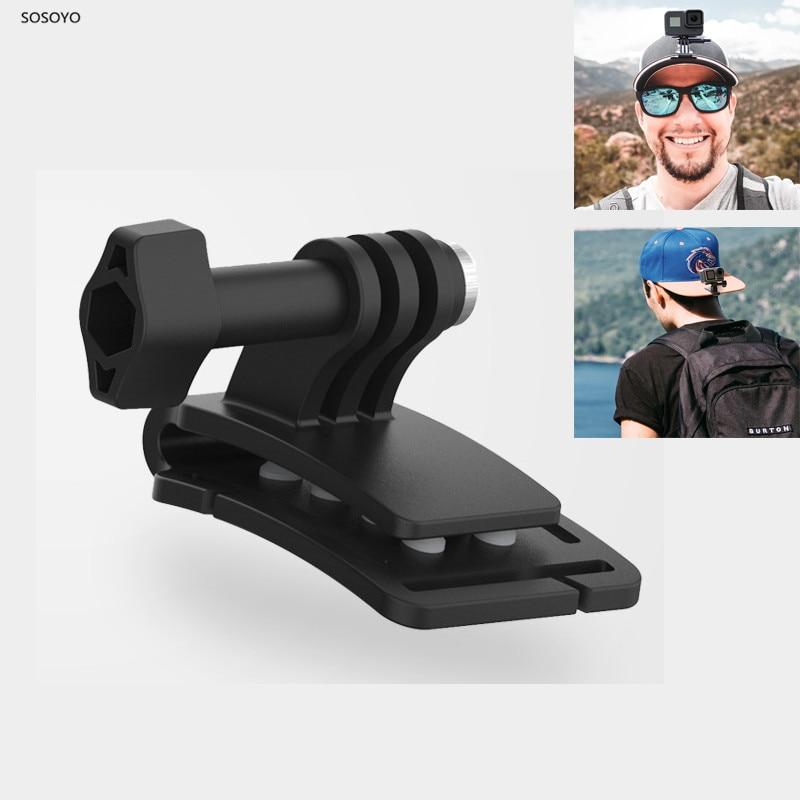 Baseball Head Cap Clamp Fixing Bracket Backpack Clip Mount Adapter For GoPro Hero 8 7 6 5 Xiaomi Yi DJI Osmo Action Camera