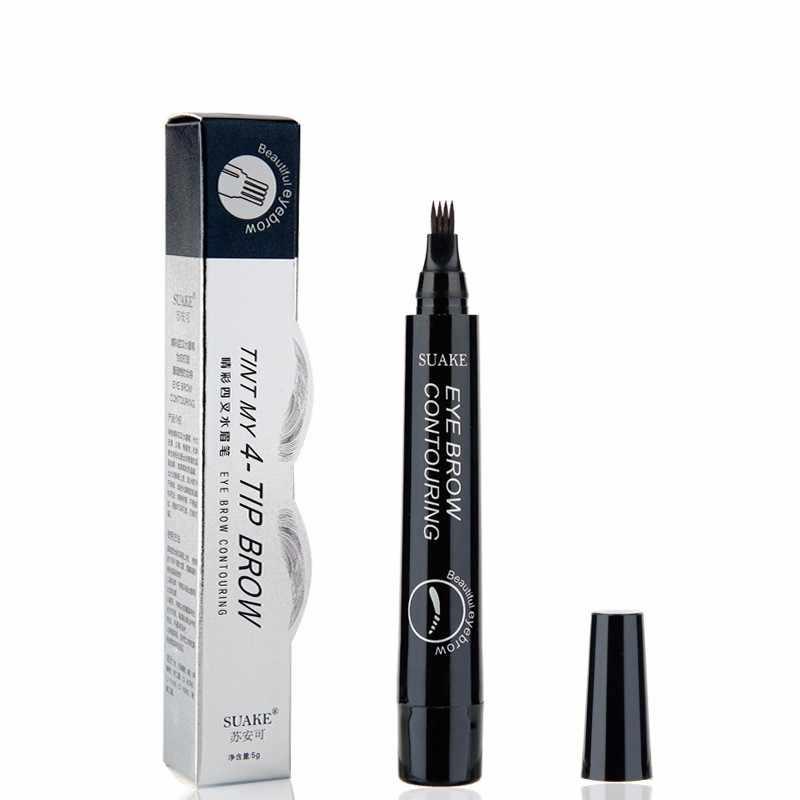 4 kopf Gabel Microblade Augenbraue Bleistift Langlebig Wasserdicht 4 Farben Farbe Augenbraue Tattoo Stift Kosmetische Make-Up maquiagem TSLM2