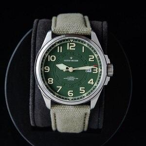Image 2 - GB 1963 męski automatyczny zegarek mechaniczny NH35 Sport Super Luminous Special Forces wojskowy Pilot mężczyźni zegarki zegar z kalendarzem