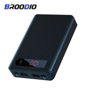 5*18650 power bank caso 5v dupla usb com tela de exibição digital carregador do telefone móvel diy escudo 18650 bateria titular caixa de carregamento