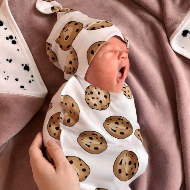 2 Pcs/Set Baby Sleeping Bag And Cap Printed Cute Baby Blanket And Hat Bedding For Newborn Babies Infants Hot 3
