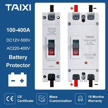 Disyuntor 1P 2P DC 100A 200A 300A 400A Carga de coche, Protector de batería de 24V 36V 48V Aislador 1