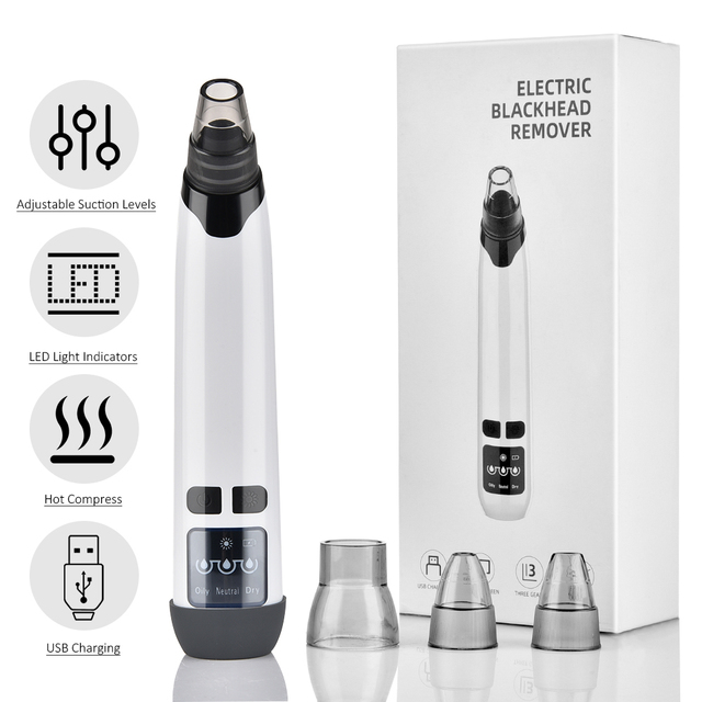 Blackhead Remover T Zone Pore Acne Pimple Removal Face Deep Nose Cleaner Vacuum Suction Facial Diamond