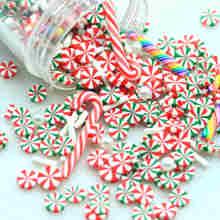 20g Weihnachten Farbe Dekoration Streusel, Polymer Clay Mixed Party Dekoration Konfetti-Schleim Spielen Ergänzungen-Nicht Essbaren